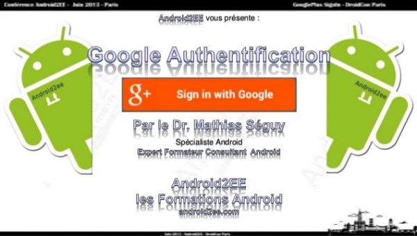Google Authentification : SignIn with Google